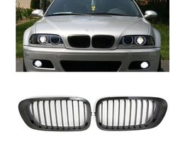 Grill BMW E46 3 Series Chrome With Black (1 Pair)