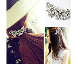 Hairpin Rhinestone Big Flower