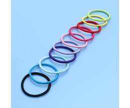 Coloured Hair Elastics (10 Pieces)