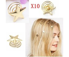 Barrettes With Star (10 Pieces)
