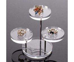 Jewelry Display Acrylic Round
