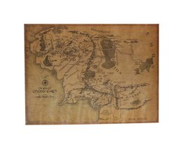 Lord Of The Rings Map Poster
