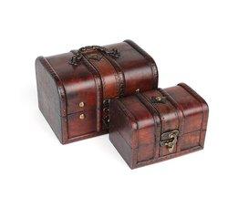 Wooden Jewelry Box Vintage