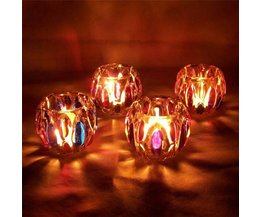 Colorful Tea Light Holder Glass