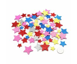 Foam Stickers Glitter Hearts Flowers Stars 30Pcs