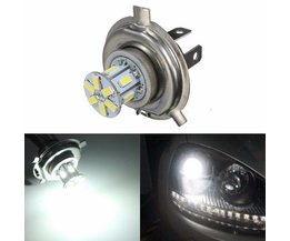 LED Bulb H4 12SMD 5630 White Lights For Car