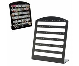 Black Jewelry Holder For 36 Pair Of Earrings
