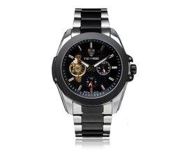 Mechanical Watch Men Stainless Steel Flywheel