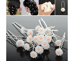 Flower-Shaped Hair Pins 20 Pieces