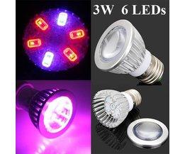 E27 LED Grow Light For Plants 3W