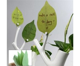 Sticky Notes With Leaves Design