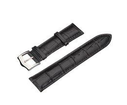 High Quality Black PU Leather Watch Band