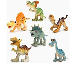 Plastic Dinosaurs Playset For Children 6 Pieces