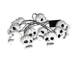Ten Halloween Skull Lights 20M