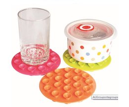 Plastic Coasters With Suction Cups