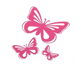 Sticker In The Form Of A Butterfly