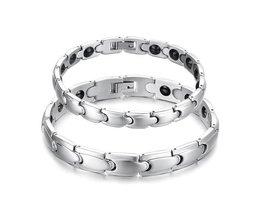 Magnetic Silver Bracelets
