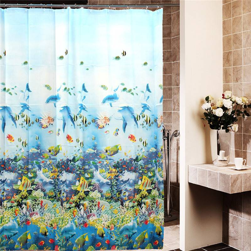 Shower Curtain Ocean 180X180Cm
