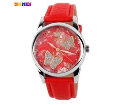 Butterfly Watch With PU Leather Strap SKMEI 9079