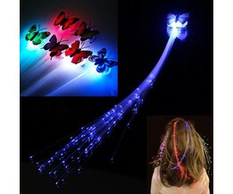 Glow In The Dark Hair Extensions With LED