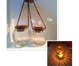 Glass Candle Holder Hanging