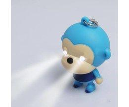 Monkey Keychain With LED Light