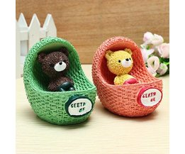 Maternity Cradle With Bear Figurine