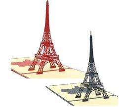 Eiffel Tower Pop Up Card 3D Handmade