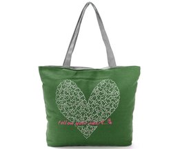 Canvas Bag With Heart