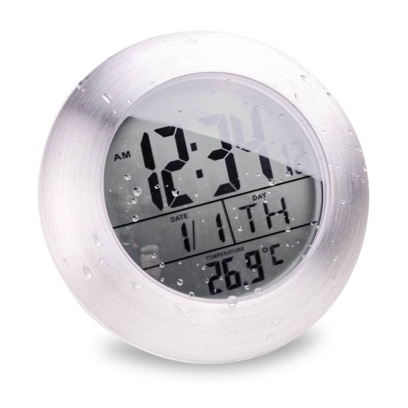 Bathroom Clock Temperature Sensor Digital