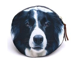 Round Wallet With Dog