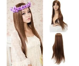 Wig With Long Brown Or Black Hair