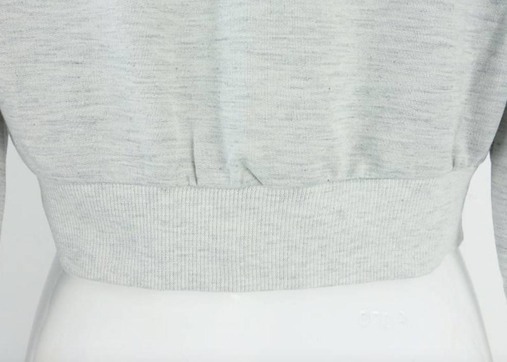 Crop Top Sweatshirt Tie