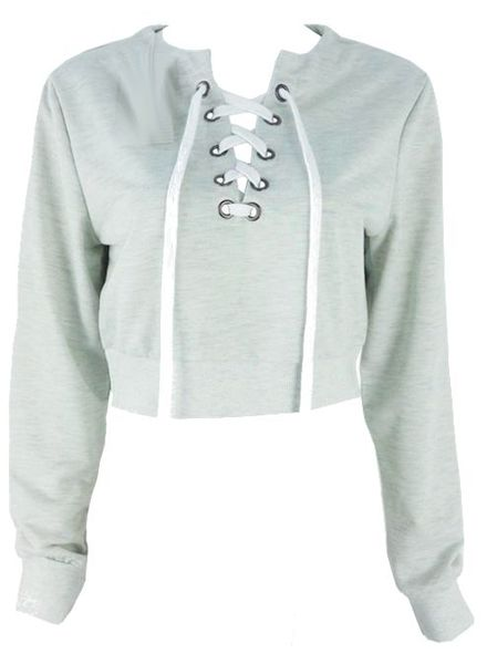 Crop Top Sweatshirt Tie