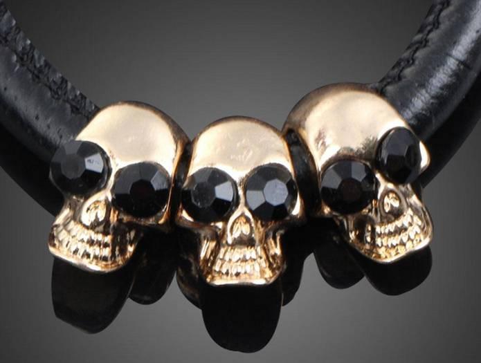 Bracelet Skeleton Head Crystal
