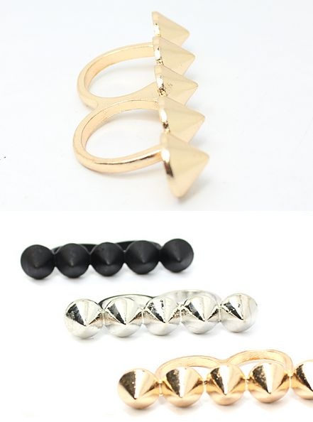 Double Ring Finger Studs