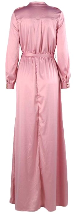 Maxi Dress Split Satin