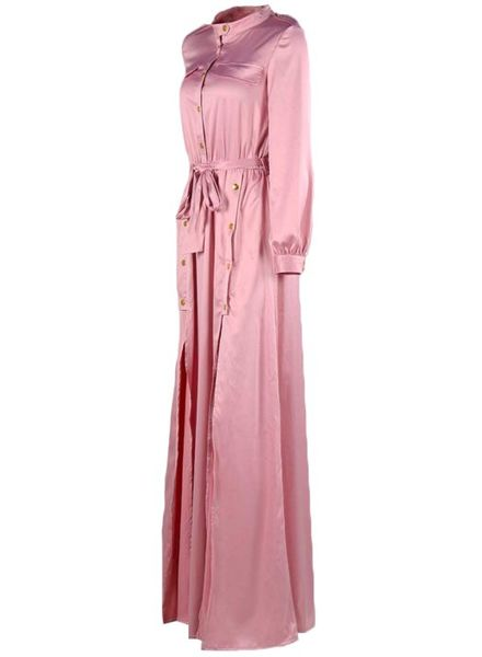 Maxi Dress Split Satin