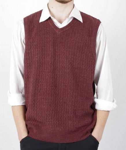 Knit Sweater Vest Redarian