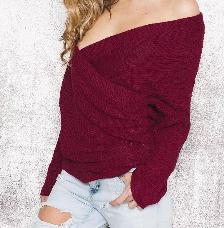 Knit Sweater V-neck