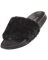 Flip Flop Faux Fur (Black)