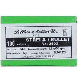 Sellier & Bellot Sellier & Bellot kogelkoppen .223 55gr