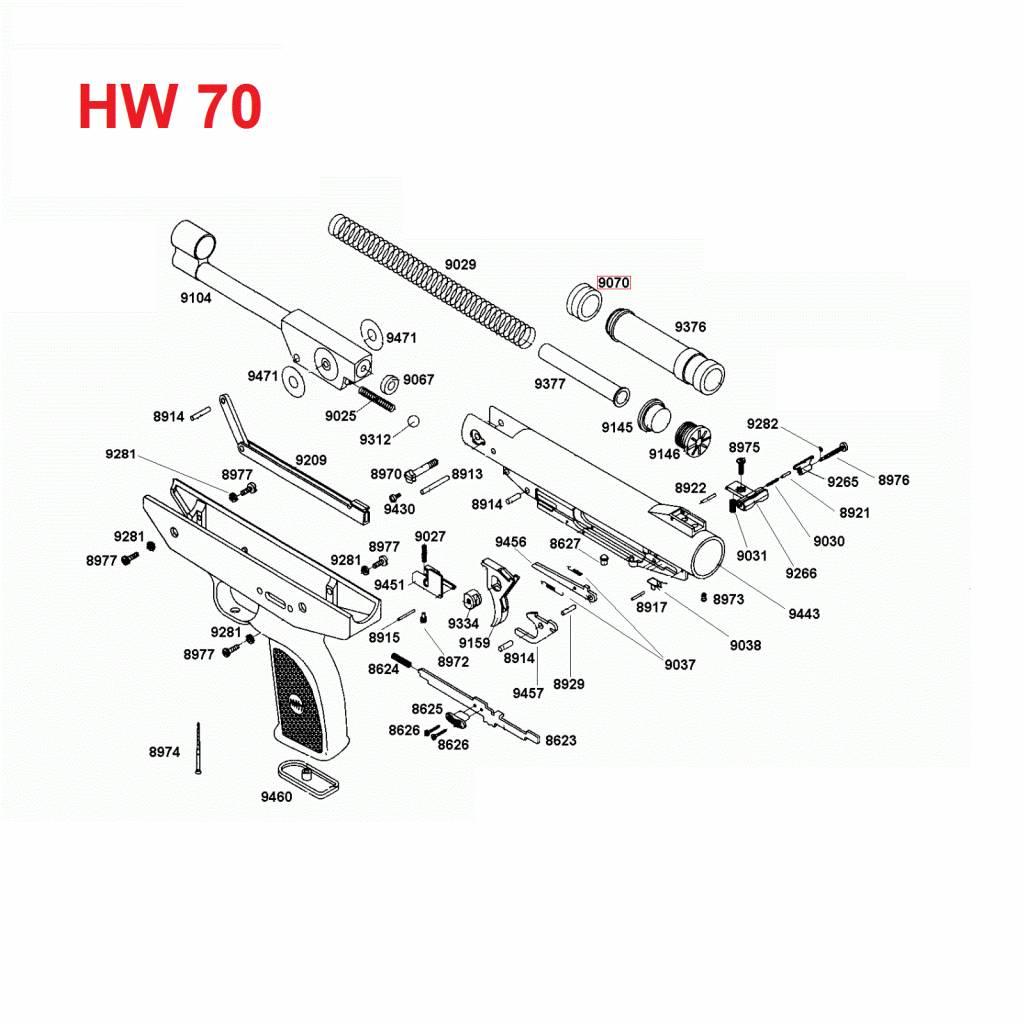 Weihrauch Weihrauch HW 70 Zuigerkop 9070