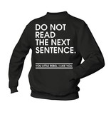 Do not read the next sentence - rebel