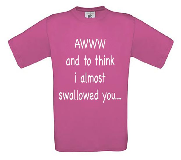 Awww i almost swallowed you...