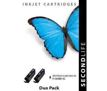 SecondLife HP 364 XL BK Duopack