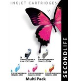 SecondLife Multipack Canon 520 Black & 521 Serie