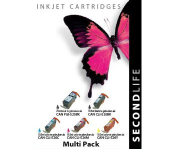 SecondLife Multipack Canon 525 Black & 526 Serie