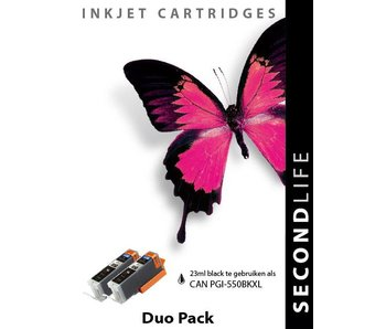 SecondLife Duopack Canon PGI 550 Black