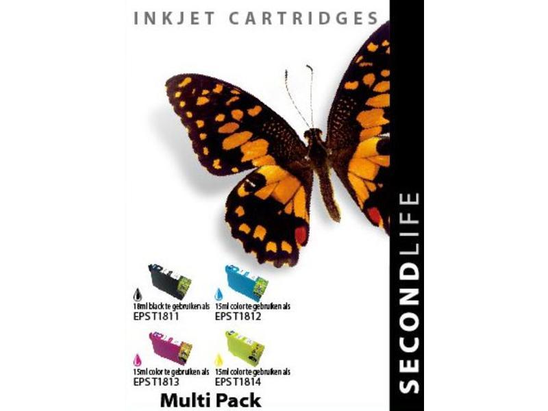 SecondLife Multipack Epson T1811 / T1814 ( 4 stuks )